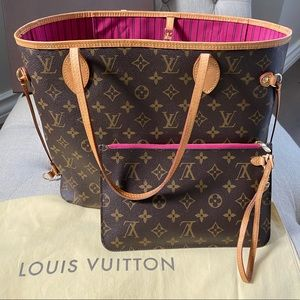 Louis Vuitton NEVERFULL MM Peony Monogram